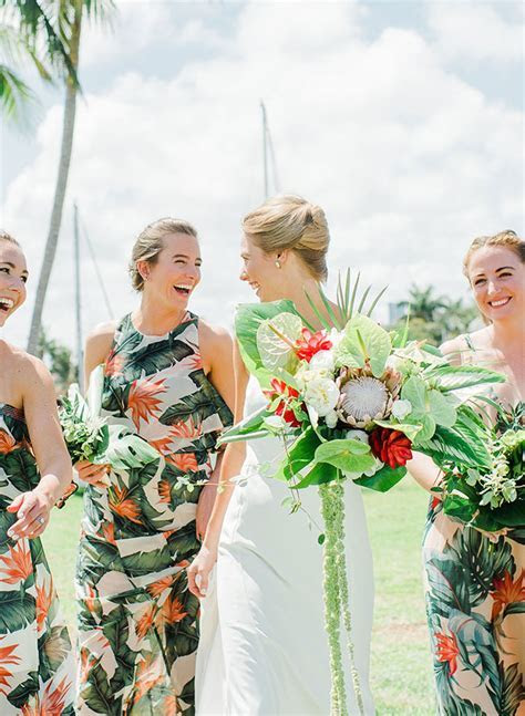 Vibrant & Tropical Coral Wedding   Inspired By This