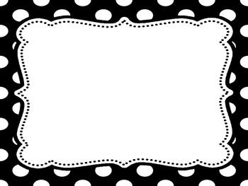 Black and White Polka Dots rules posters - editable and FREE ...