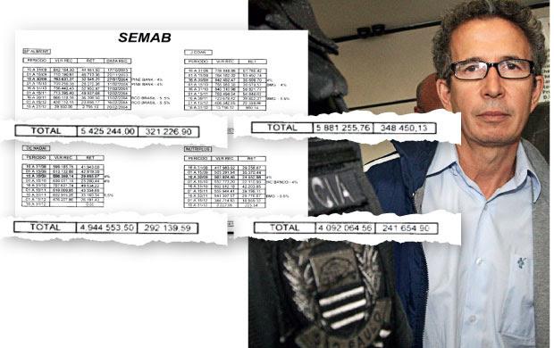 NA PLANILHA  O empresário Eloizo Durães, ao ser preso em 2010. Acima, a tabela de pagamentos que ele é acusado de ter feito à prefeitura de São Paulo em 2003 e 2004  (Foto: André Lessa/AE)