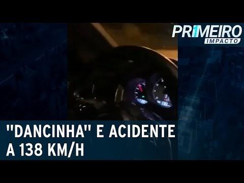 """Passageiro grava """"dancinha"""" e motorista bate em muro a 138 km/h"""