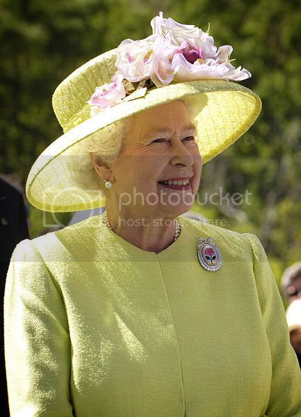 The Queen of Scotland, yesterday.