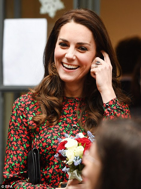 Kate looked to be getting into the festive spirit already