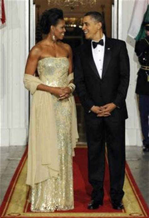Strapless and Streamlined   Michelle Obama Does it Again