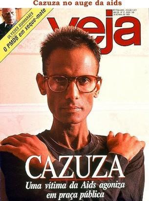 Cazuza na capa da revista Veja. Foto: Reprodução