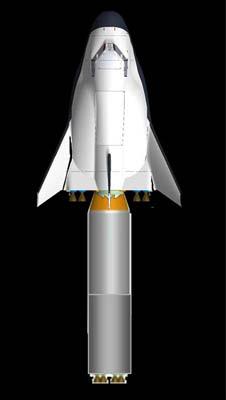 SpaceDev Dream Chaser com veículo de lançamento Suborbital