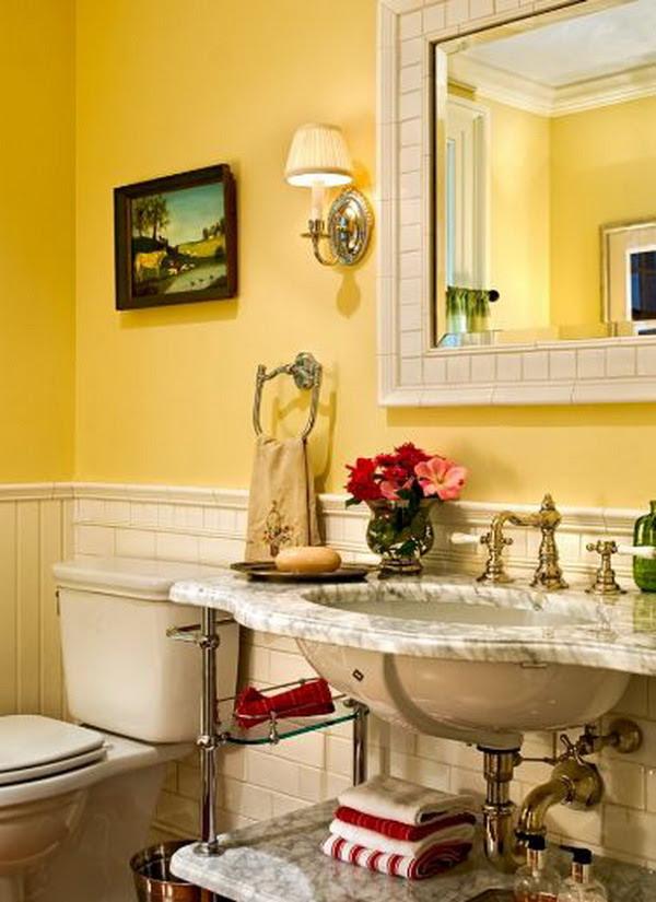 Yellow Bathroom Design Ideas | InteriorHolic.com