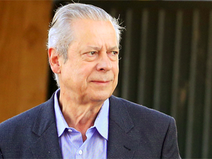 José Dirceu, saída de prisão para trabalho externo, em junho de 2014 (Foto: Dida Sampaio/Estadão Conteúdo)