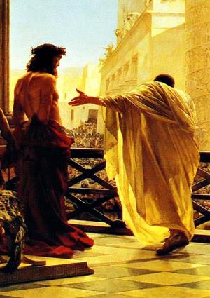 Quinta Stazione Gesù è giudicato da Ponzio Pilato