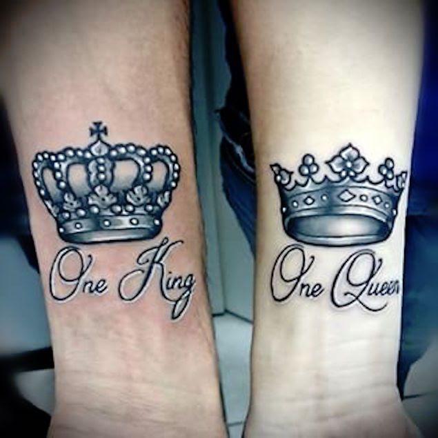 Tattoo Trends King And Queen Crown Tattoos Tattooviralcom