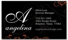 BCS-1028 - salon business card