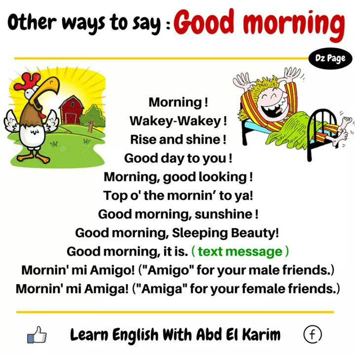 Synonym Words Good Morning Materials For Learning English