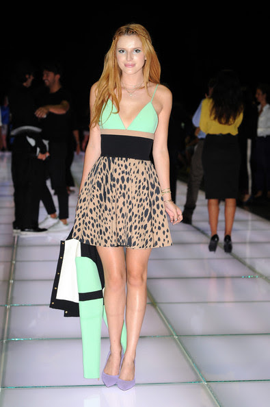 Bella Thorne at Fausto Puglisi