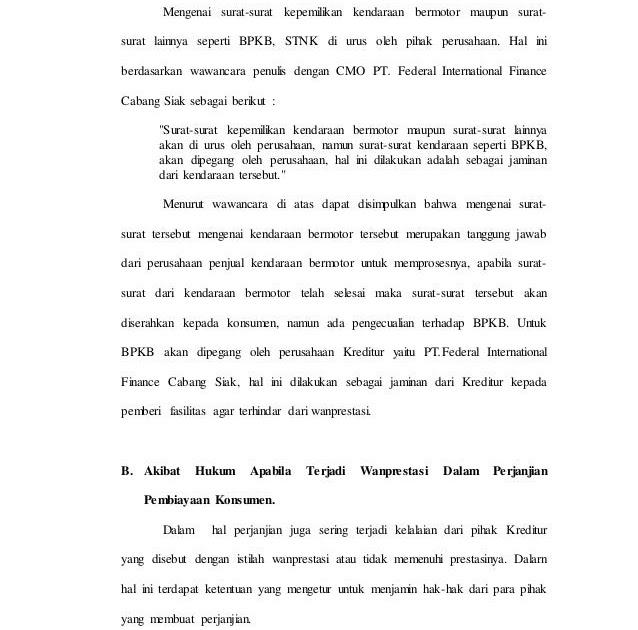 Surat Perjanjian Pinjaman Uang Dengan Jaminan Bpkb ...