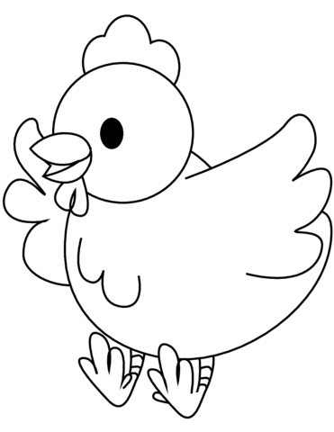 67 Coloring Pages Of A Chicken Pictures