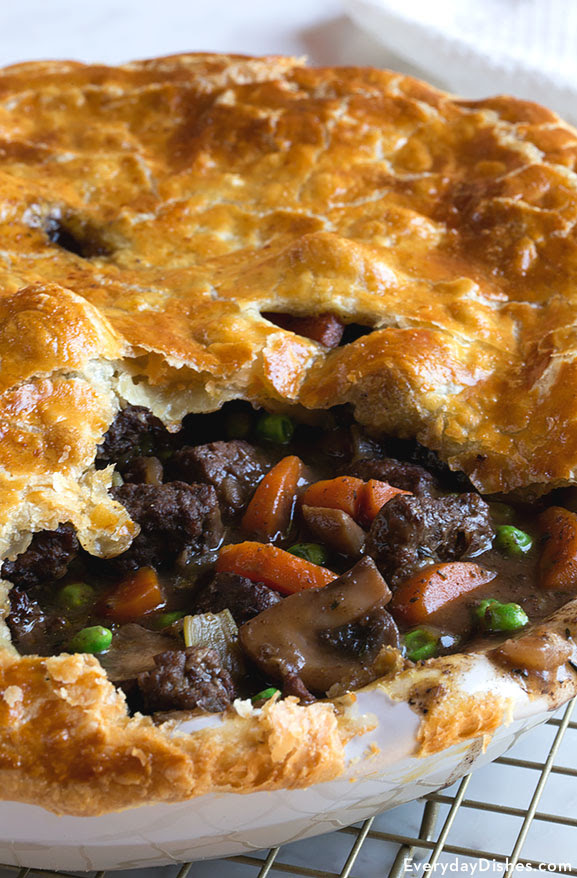 Savory Steak and Mushroom Pot Pie Recipe