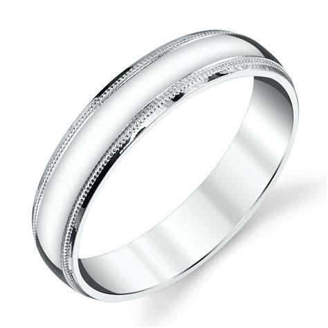 sterling silver mens wedding band ring mm classic