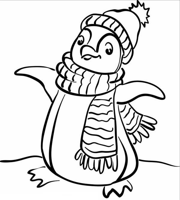 Free Coloring Pages For Kids Winter Drawing With Crayons
