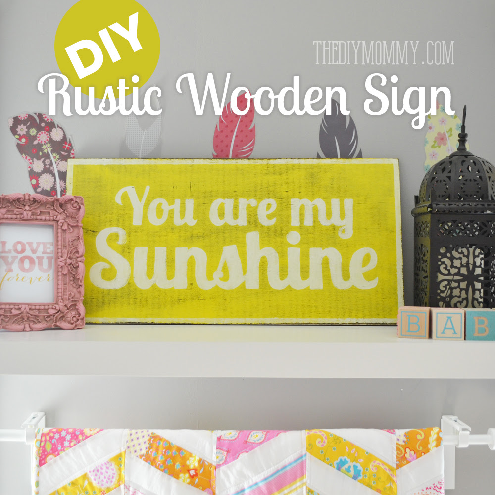 such sign diy sign a a DIY sign Are Sunshine wooden   make rustic You wooden cute rustic My