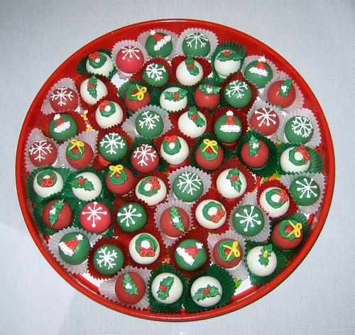 Cake Pop And Cake Ball Ideas Christmas Cake Balls Tray