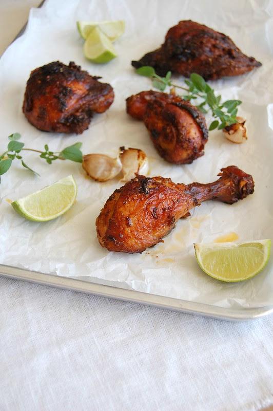 Spiced roast chicken / Frango assado com especiarias