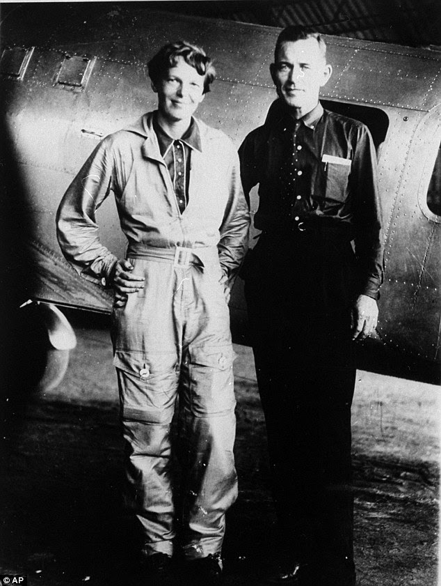 Mystery: Amelia Earhart and her navigator Fred Noonan had made it most of the way around the world when they disappeared in July 1937 - sparking an enduring hunt to get to the bottom of what happened