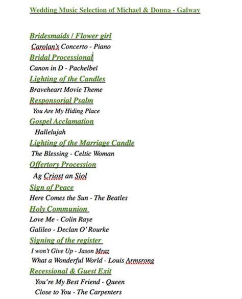 List Of Wedding Ceremony Songs   Weddings234
