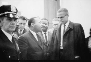 Martin Luther King with Malcolm X, 1964 March 26