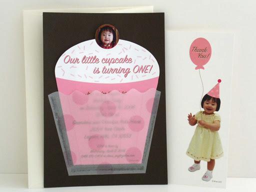 cupcake 1st birthday invitations