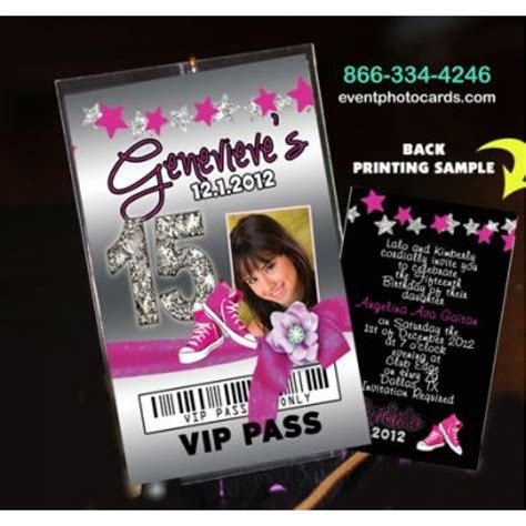 Converse Sweet 16 Pass Invitations, Free Shipping