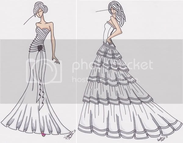 I found a seller on Etsy called Gown Sketch who 39s drawings are amazing