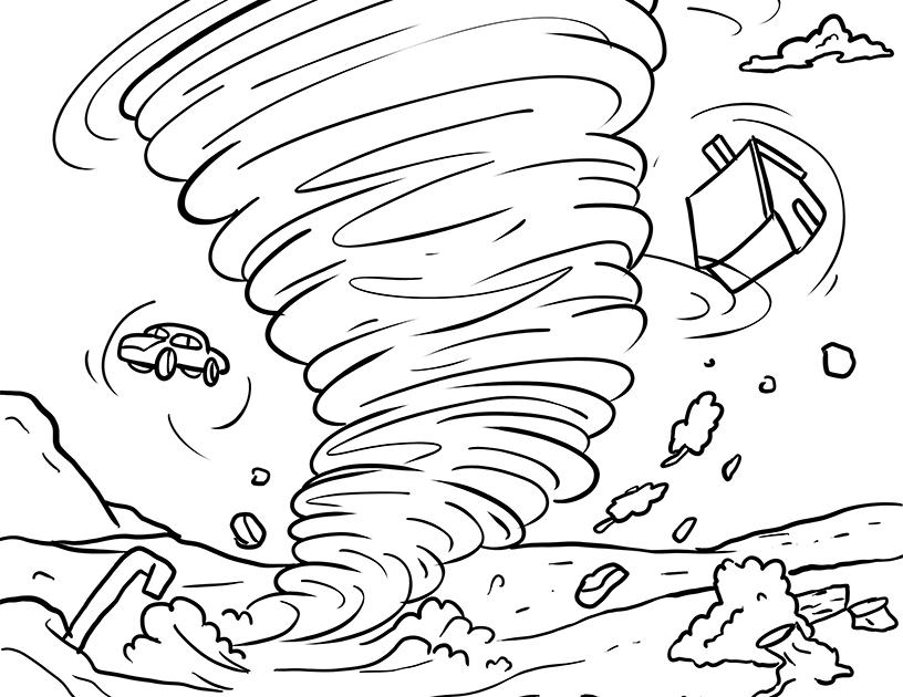 ausmalbild regenschirm vorlage zum ausdrucken - cartoon-bild