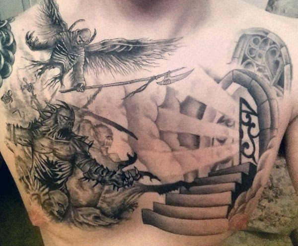 50 Heaven Tattoos For Men Higher Place Design Ideas