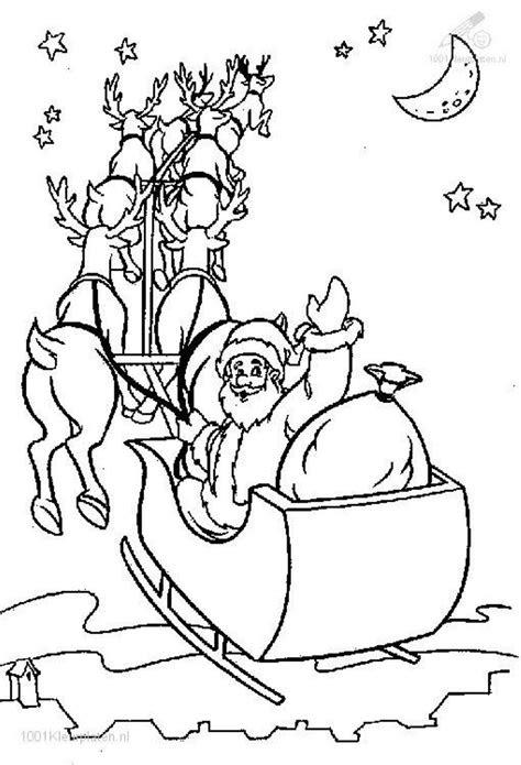 printable santa sleigh christmas printables