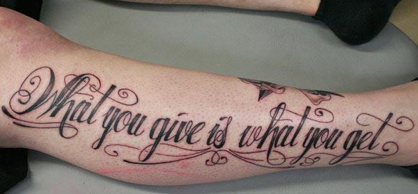 Signature Letter Tattoo