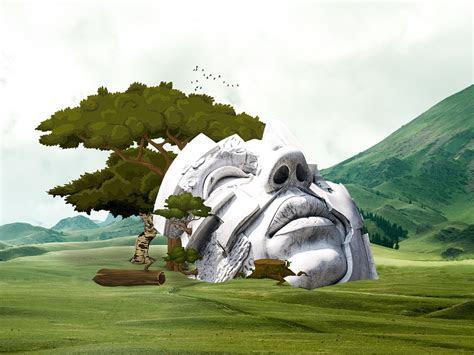 illustration landscape monument architecture