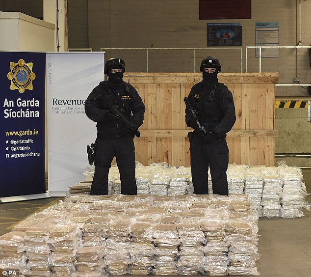 Over £32 million of cannabis was seized at Dublin Port on Friday after being found in farm machinery on a ship