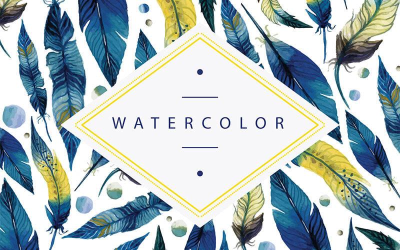 水彩絵の具デザインを無料でたのしむ美しいフリーベクター素材まとめ