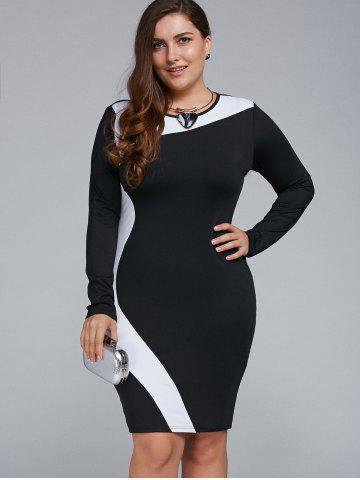 Plus dresses 3d bodycon long size
