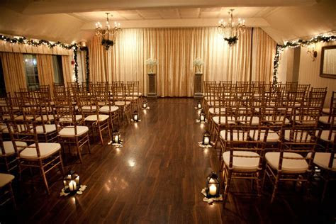 Indoor wedding ceremony at The Three Village Inn