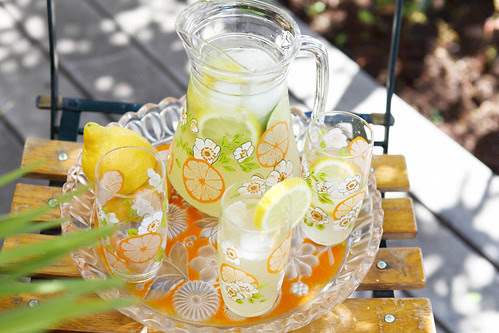 limonade with ginger and lemon
