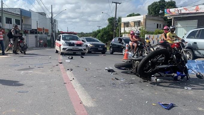 Homem morre e outro fica ferido após colisão entre duas motos, na PB