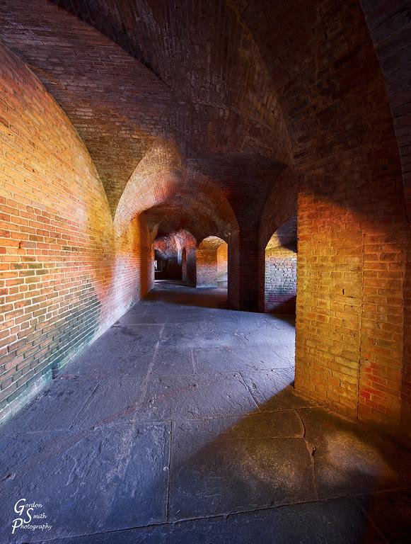 Fort Zachary Taylor Corridors light shadow