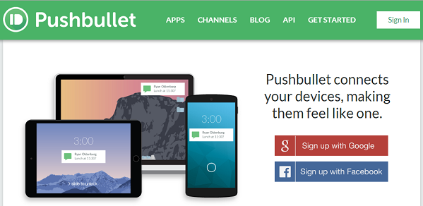 Pushbullet.com displays phone notifications on your computer, so that you don't have to switch between devices everytime.
