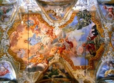 Un particolare degli affreschi di Guglielmo Borremans nella chiesa di San Giovanni a Piazza Armerina