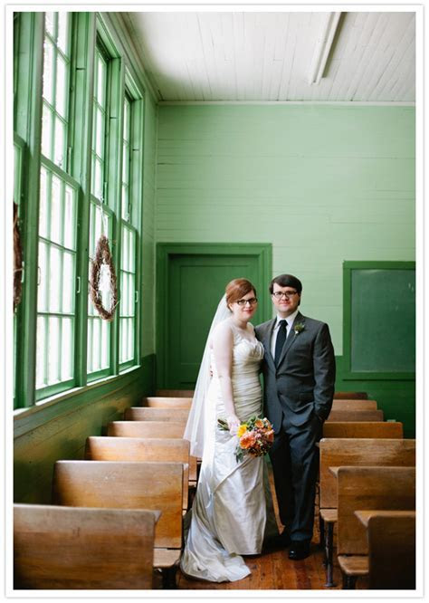 Alabama schoolhouse wedding: Diane   Jason   Real Weddings