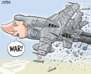 "Warmonger Stephen Harper: ""Weeee! We just wiped out some Iraqi villages!"""