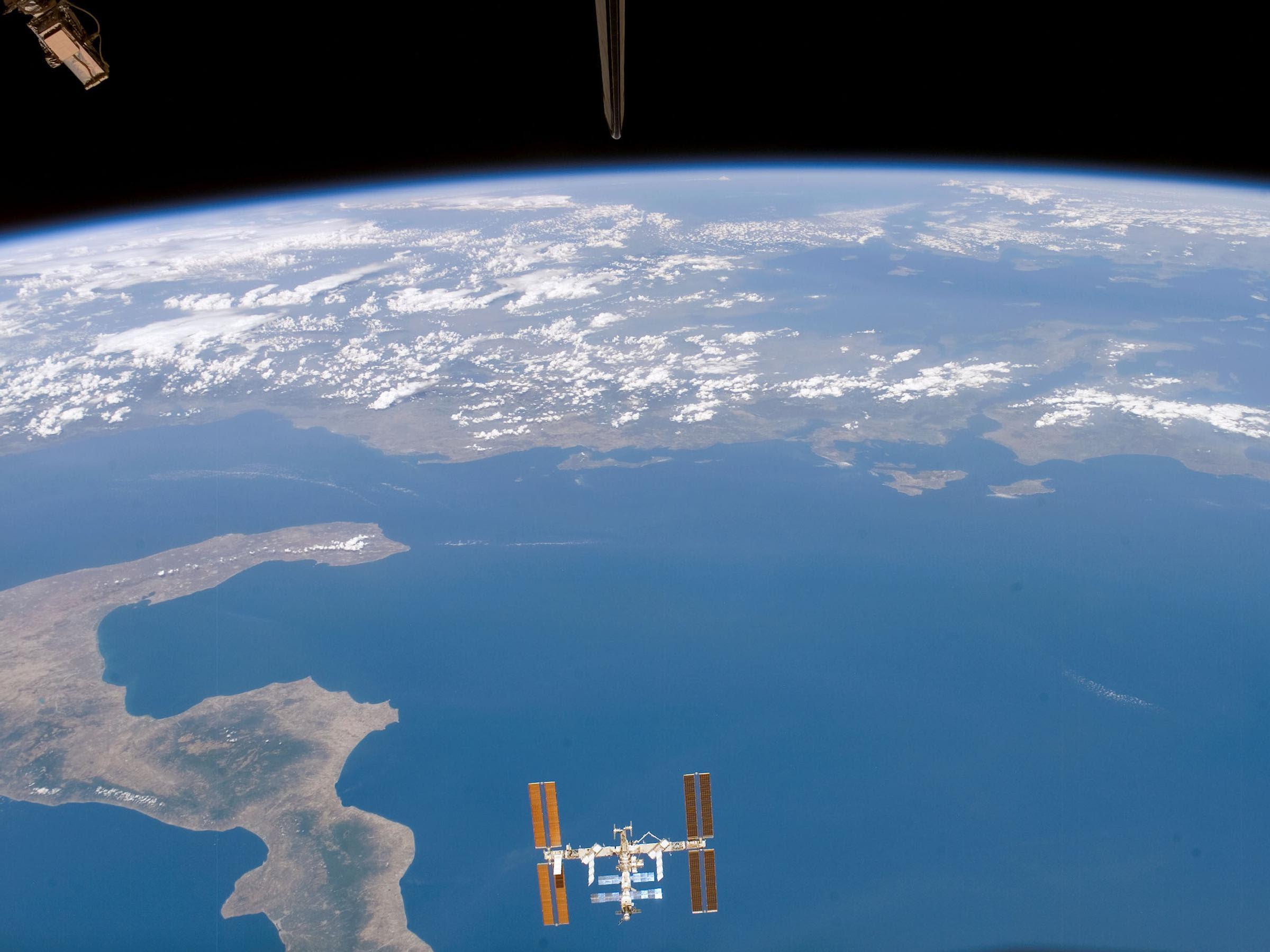 La ISS vista desde el Endeavour