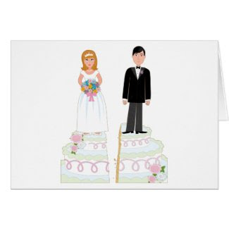 Divorce Cake Stock Cards
