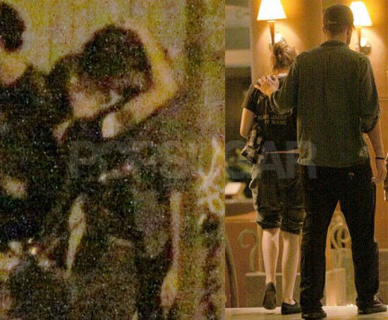 kristen stewart and robert pattinson kissing in real life. out for Rob and Kristen to
