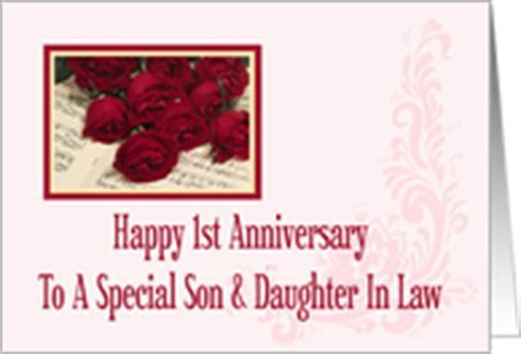 Wedding Anniversary Cards for Son & Daughter in Law from